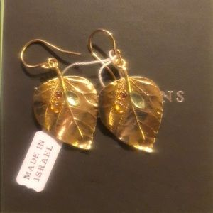 NWT Gold Leaf Earrings